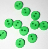 "1/4"" Green Round Buttons"