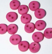 "1/4"" Hot Pink Round Buttons"