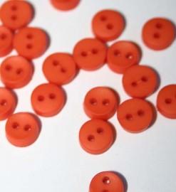 """1/4"""" Round Orange Buttons"""