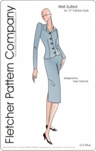 """Smartly So Suit for 12"""" Fashion Dolls Printed Pattern"""