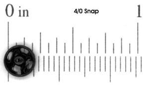 snaps 4/0 Black - 1 dozen