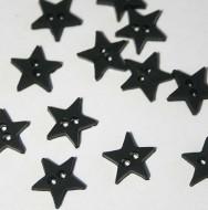 "1/4"" Black Star Buttons"