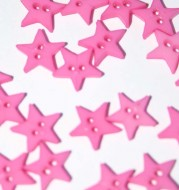 """1/4"""" hot Pink Star Shaped Button"""