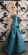 """Teal Starlight Gown for 16"""" JamieShow Dolls"""