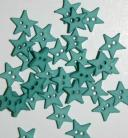 "1/4"" Teal Star Shaped Buttons"