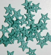 """1/4"""" Teal Star Shaped Buttons"""