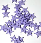 "1/4"" Violet Star Shaped Buttons"