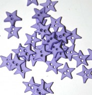 """1/4"""" Violet Star Shaped Buttons"""