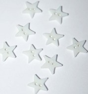 """1/4"""" White Star Buttons"""