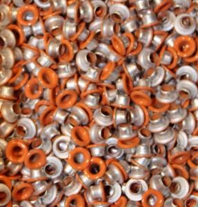 "1/8"" Tangerine Eyelets"