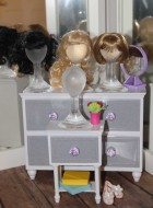 """4"""" Resin Wig Stand for 16""""-18"""" Fashion Dolls"""