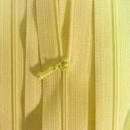 """4 1/2"""" Pale Yellow Zipper"""