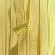"12"" Pastel Yellow Zipper"