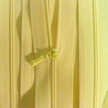 "4 1/2"" Pale Yellow Zipper"