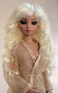Zoey, Syntheric Mohair, Size 6-7, White Blonde