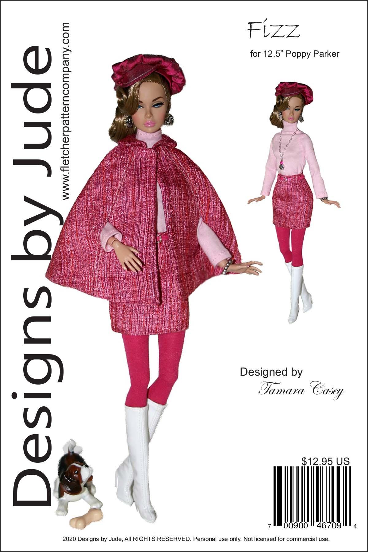 HALF DOLL//PINCUSHION DOLL Dress Pattern ~  PS522 PDF