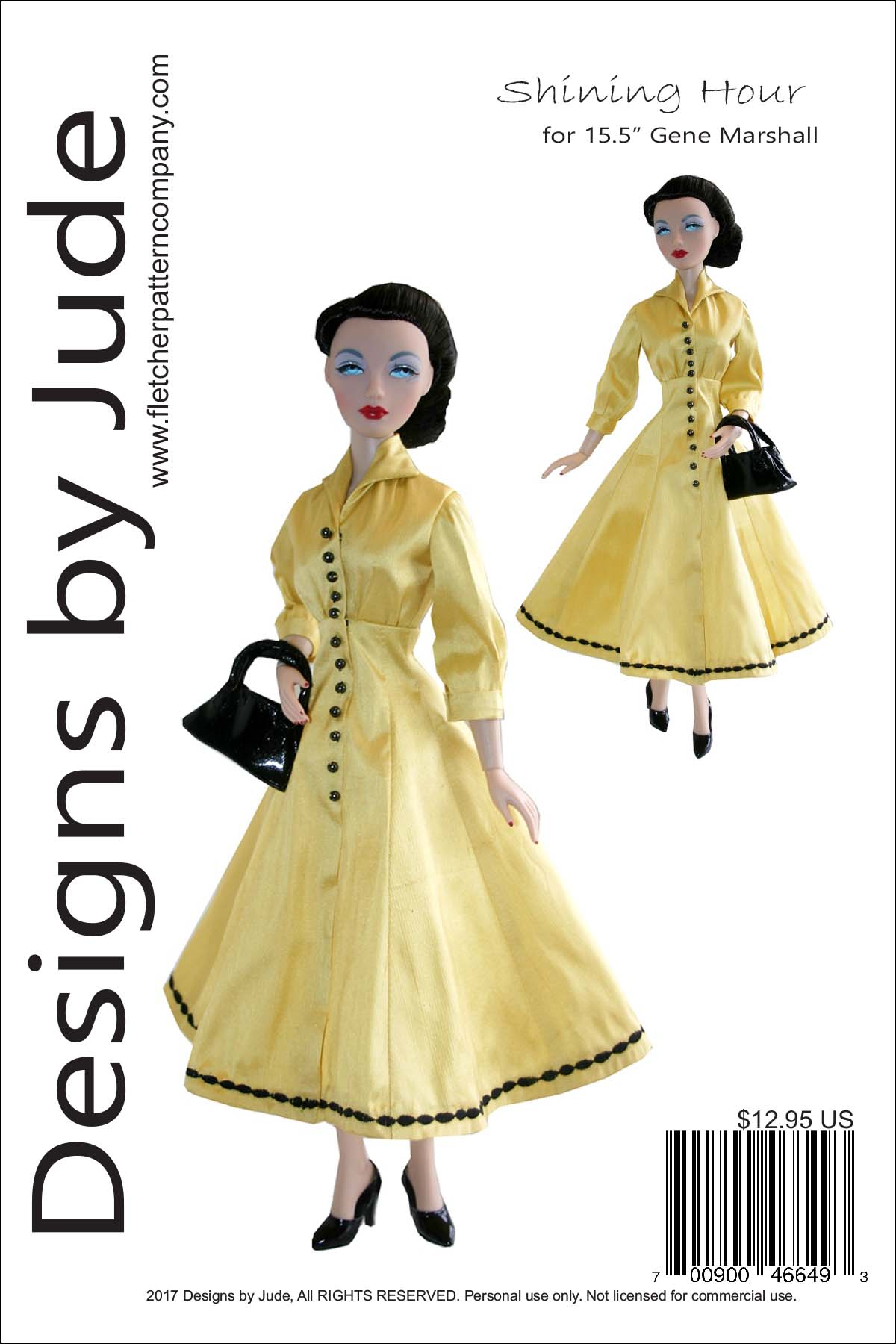 Sophisticated Lady Doll Clothes Sewing Pattern for Gene Marshall